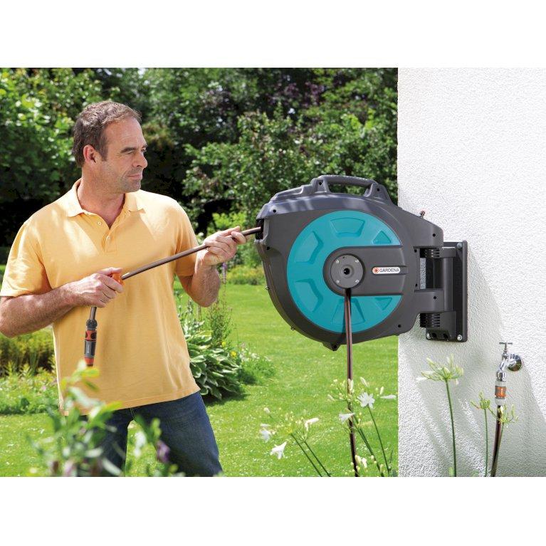 Gardena Vægmonteret slangeboks 35 m. automatisk opruldning