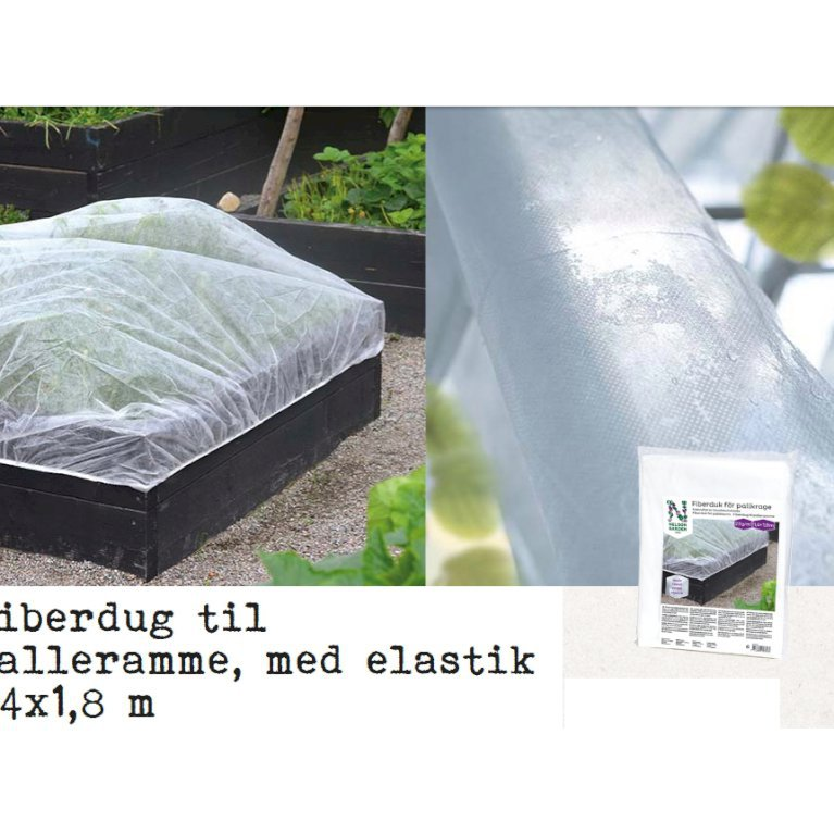Fiberdug palleramme med elastik 1,4x1,8m