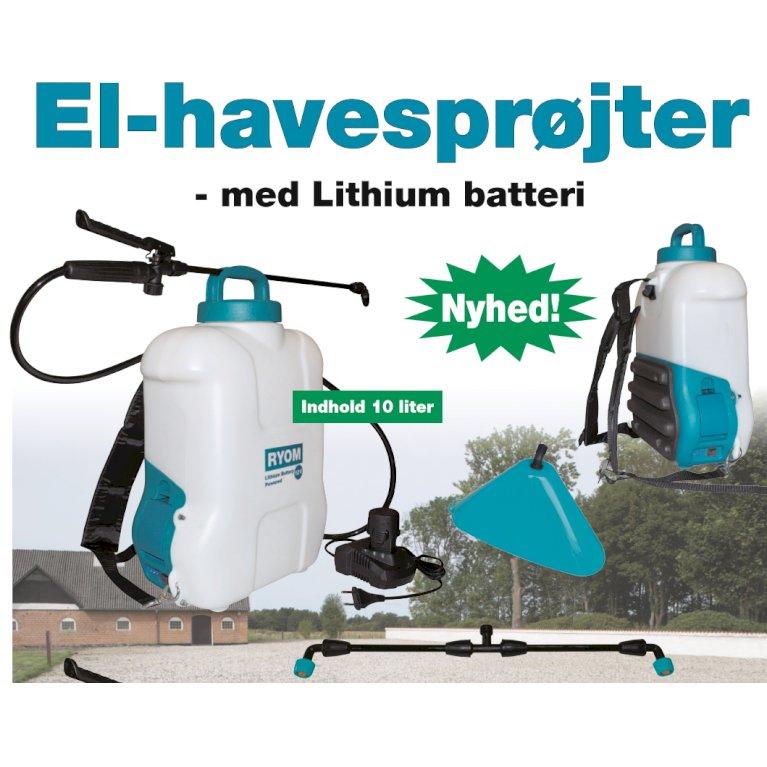 Elsprøjte m/lithium batteri 16L