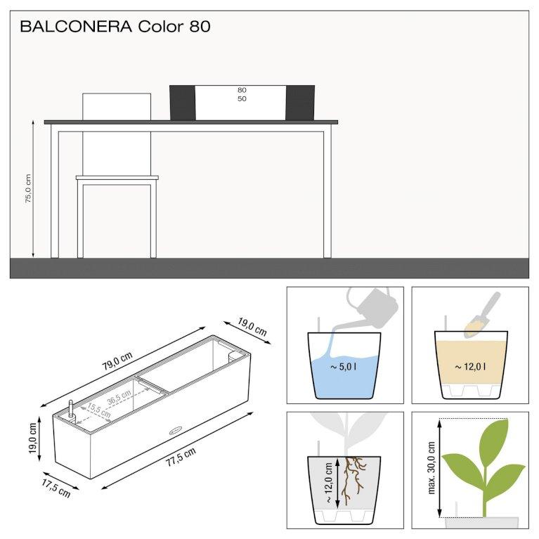 Altankasse - Balconera hvid