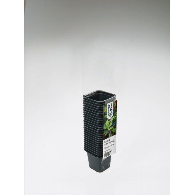 Plastpotte firkantet 9 cm, 20 pk