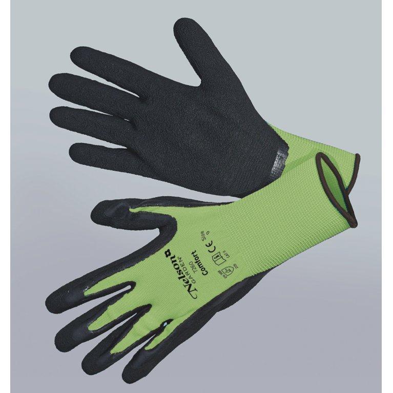 Comfort, grøn/sort - Tynd og smidig nylonhandske