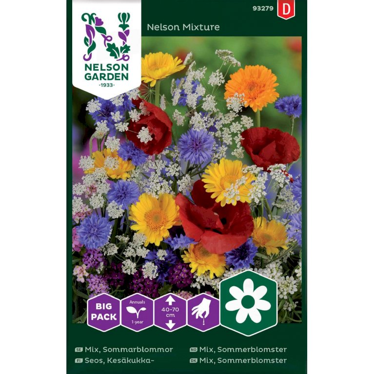 Mix, Sommerblomster, Big Pack