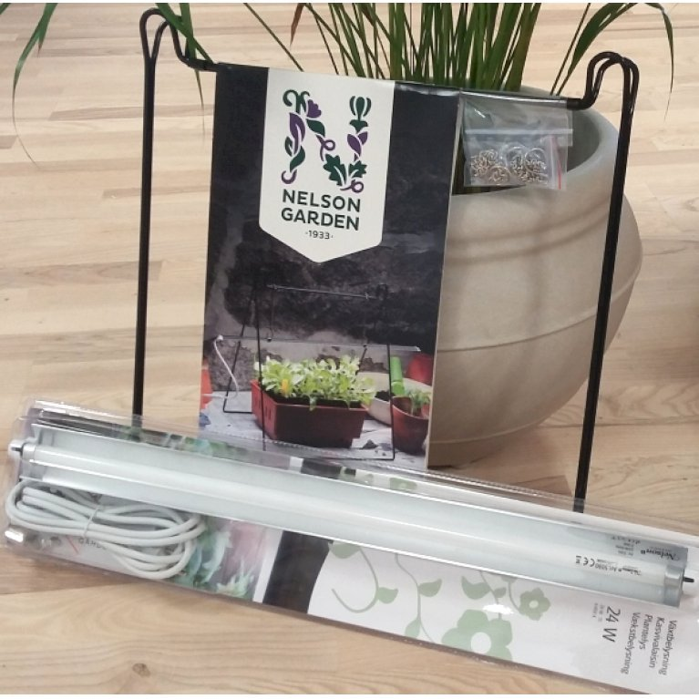 Gavepakke med vækstbelysning og stativ til vækstbelysning
