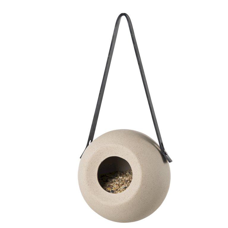 Håndlavet rund keramik fulgefoderhus
