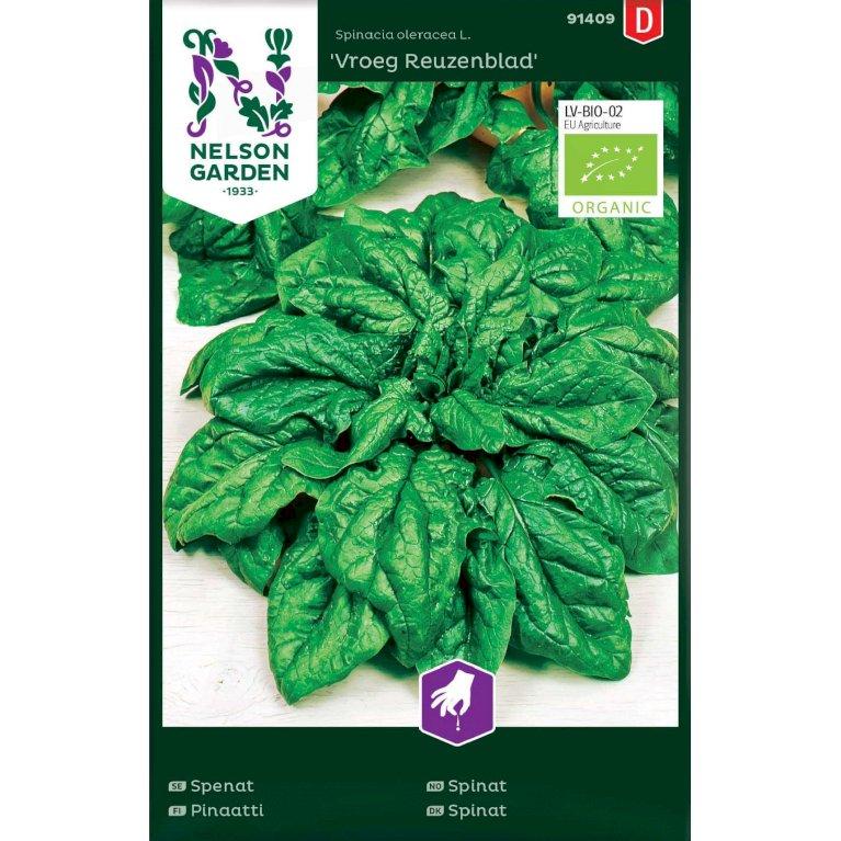 Spinat, Vroeg Reuzenblad, Organic