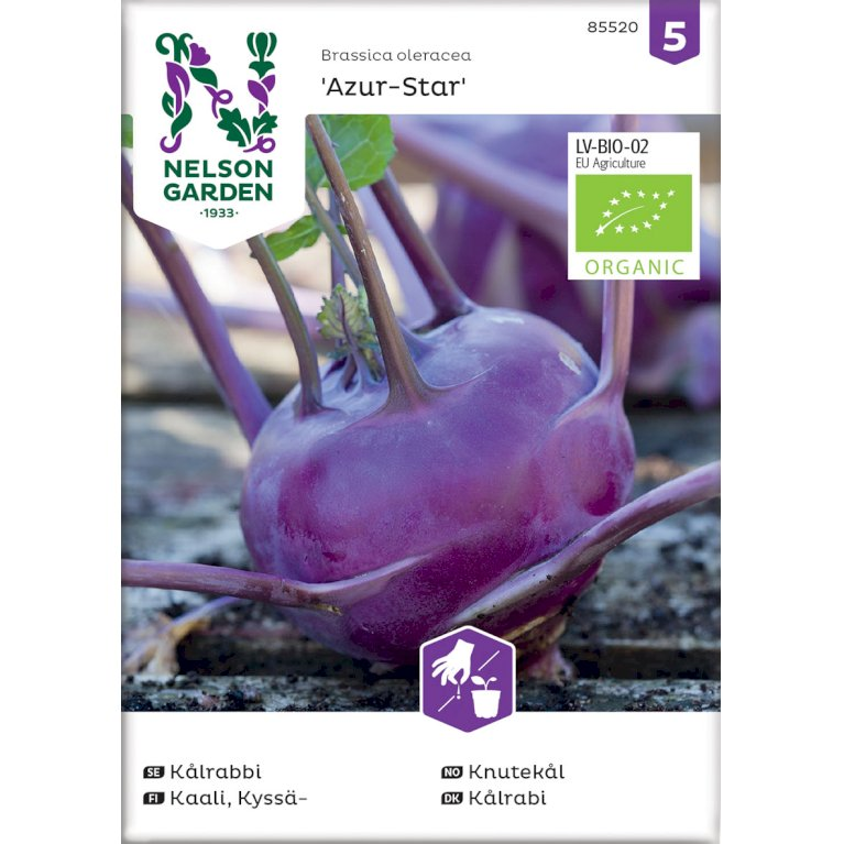 Kålrabi, Azur-Star, Organic