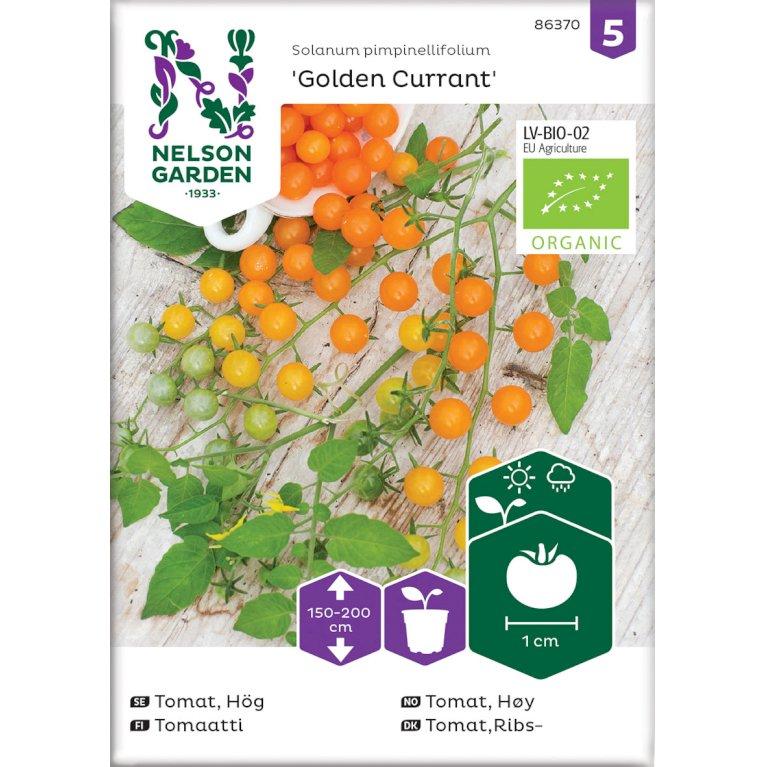 Tomat, Ribs-, Golden Currant, Organic