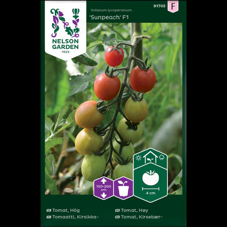 Tomat, Kirsebær-, Sunpeach F1