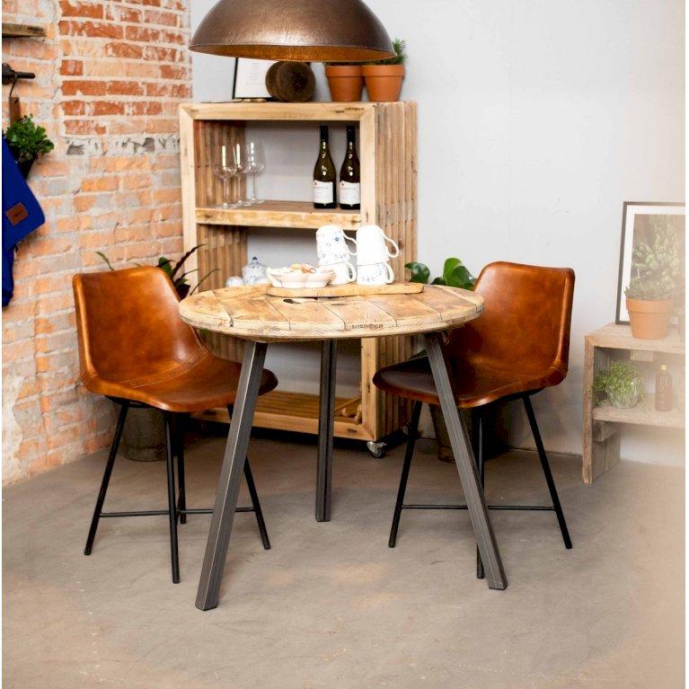 Cafébord med stålben