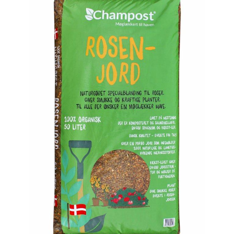 Rosenjord m/ler fra Champost