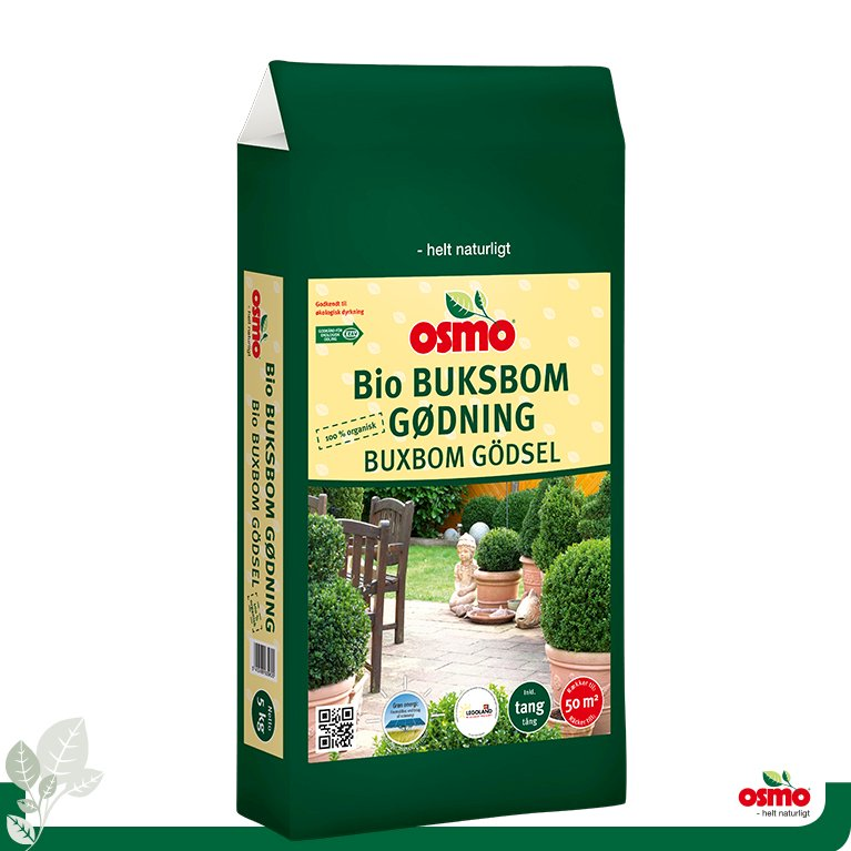 Bio buksbom gødning 7-2-5 +2% Mg - til stedsegrønne planter