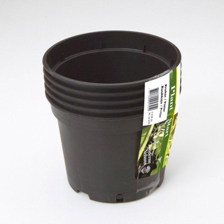 Plastpotte rund 17 cm 5 stk. pr. pakke