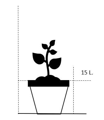 15 liter potte