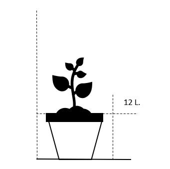 12 liter potte