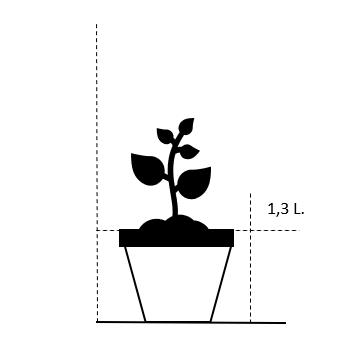1,3 liter potte
