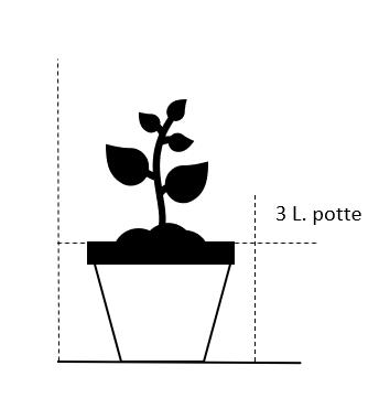 3,0 liter potte