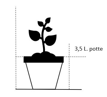 3,5 liter potte